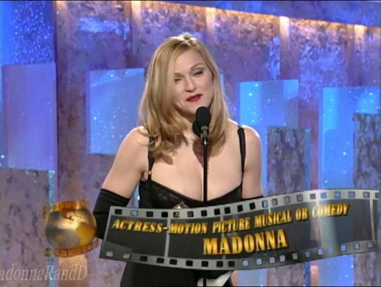 Madonna wins Golden Globe for Evita